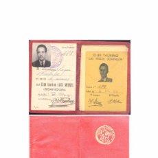 Tauromaquia: CARNET DE SOCIO DEL CLUB TAURINO LUIS MIGUEL DOMINGUIN.- AÑO 1950. Lote 21691250