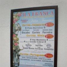 Tauromaquia: CARTEL DE TOROS ENMARCADOS. Lote 22003087