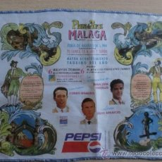 Tauromaquia: PAÑUELO DE TOROS. MALAGA, FERIA DE AGOSTO 1994. CURRO ROMERO, JUAN J. TRUJILLO Y JULIO APARICIO.. Lote 22019919