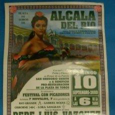 Tauromaquia: CARTEL DE TOROS. PLAZA DE ALCALA DEL RIO. A BENEFICIO DE LA RESTAURACION DE SU PLAZA. AÑO 2000.. Lote 22346280