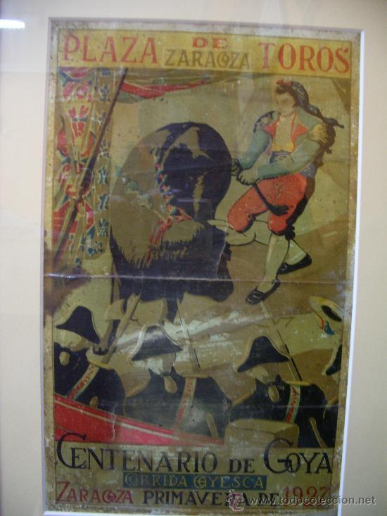 LITOGRAFIA DE CORRIDA GOYESCA EN ZARAGOZA 1927 (Coleccionismo - Tauromaquia)