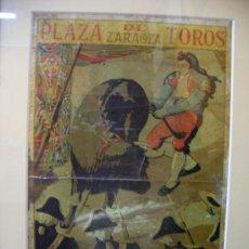 Tauromaquia: LITOGRAFIA DE CORRIDA GOYESCA EN ZARAGOZA 1927. Lote 197083358