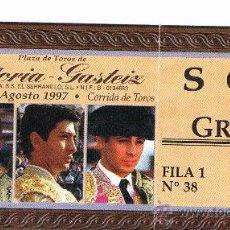Tauromaquia: ENTRADA PLAZA DE TOROS DE VITORIA-GASTEIZ 1997. Lote 22825522