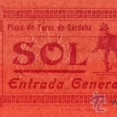 Tauromaquia: ENTRADA PLAZA TOROS DE CÓRDOBA, AÑO 1905, TOREROS FUENTES ALGABEÑO Y MONTES, TOROS SALTILLO. Lote 26573971
