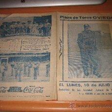 Tauromaquia: PLAZA DE TOROS DE OVIEDO RENOVACION DE EL BOMBERO TORERO JULIO DE 1961 FESTIVIDAD DE SAN CRISTOBAL. Lote 24025368