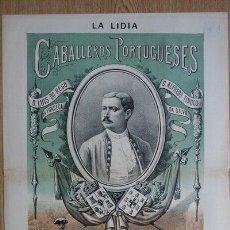 Tauromaquia: LITOGRAFÍA DE LA LIDIA. AÑO II. LUNES, 5 DE NOVIEMBRE DE 1883. NÚM. 35. CABALLEROS PORTUGUESES.. Lote 24247589