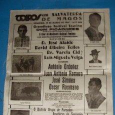 Tauromaquia: CARTEL DE TOROS. PLAZA DE SALVATIERRA DE MAGOS. FESTIVAL DE CAVALEIROS Y MATADORES. AÑO 1967.. Lote 24589529