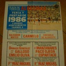 Tauromaquia: CARTEL DE TOROS. PLAZA DE ALGECIRAS. FERIA Y FIESTAS DE 1986.. Lote 24590112