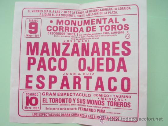 Tauromaquia: Prrograma de la plaza de Toros de Ecija de 1.987 - Foto 2 - 25206622