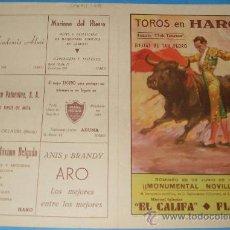 Tauromaquia: CARTEL DE TOROS. PLAZA DE HARO. MANUEL IGLESIAS EL CALIFA Y MIGUEL FLORES. AÑO 1958.. Lote 26048423