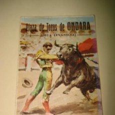 Tauromaquia: PROGRAMA ACONTECIMIENTO TAURINO DE 1968 EN LA PLAZA DE TOROS DE ONDARA JOYA LEVANTINA.. Lote 26115921