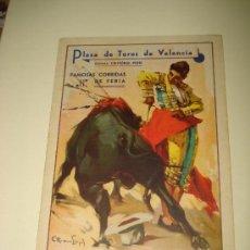 Tauromaquia: GRAN PROGRAMA FAMOSAS CORRIDAS DE FERIA EN LA PLAZA DE TOROS DE VALENCIA DEL AÑO 1936.. Lote 26116377