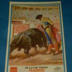 Tauromaquia: CARTEL DE TOROS. PLAZA DE MADRID. SEBASTIAN CASTELLA, SERGIO AGUILAR Y ALBERTO ALVAREZ. AÑO 2000.. Lote 26371424