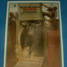 Tauromaquia: CARTEL DE TOROS. PLAZA DE MADRID. ANTONIO VAAMONDE, ANGEL MARTINEZ Y EL TATO. AÑO 1991.. Lote 26415269