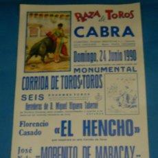 Tauromaquia: CARTEL DE TOROS. PLAZA DE JEREZ. EL HENCHO, MORENITO DE MARACAY Y PEDRO LARA. AÑO 1990.. Lote 26520684
