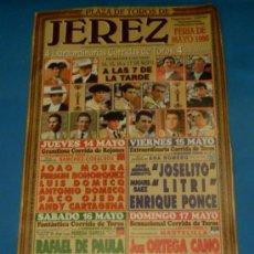 Tauromaquia: CARTEL DE TOROS. PLAZA DE JEREZ. FERIA DE MAYO 1998.. Lote 26520732