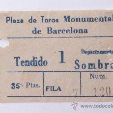 Tauromaquia: ENTRADA PLAZA DE TOROS MONUMENTAL DE BARCELONA. Lote 26859701