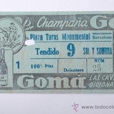 Tauromaquia: ENTRADA PLAZA DE TOROS MONUMENTAL DE BARCELONA. Lote 26859718