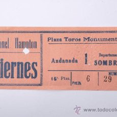 Tauromaquia: ENTRADA PLAZA DE TOROS MONUMENTAL DE BARCELONA. Lote 26859750