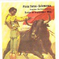 Tauromaquia: PROGRAMA DE TOROS: PLAZA DE TOROS DE SALAMANCA. FERIAS DE SEPTIEMBRE 1966 CT-022. Lote 27020497
