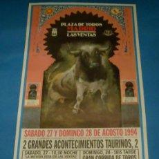 Tauromaquia: CARTEL DE TOROS. PLAZA DE MADRID. FERMIN VIOQUE, ANTONIO MONDEJAR Y FERNANDO JOSE PLAZA. AÑO 1994.. Lote 27150364