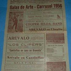 Tauromaquia: CARTEL DE TOROS. PLAZA DE JEREZ. ESPECTACULO GALAS DE ARTE 1956.. Lote 27198613