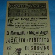 Tauromaquia: CARTEL DE TOROS. PLAZA DE JEREZ DE LA FRA. EL MONAGUILLO, MIGUEL ANGEL, JOSELITO...AÑO 1970.. Lote 27356685