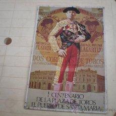 Tauromaquia: CARTEL DE CORRIDA DE TOROS DE 1880 PINTADO EN CHAPA DE HOJALATA SOLO SE HICIERON 1100 UNIDADES. Lote 27783625