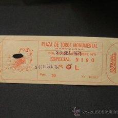 Tauromaquia: ENTRADA - PLAZA DE TOROS MONUMENTAL - BARCELONA - 1971 - . Lote 27815620