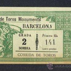 Tauromaquia: ENTRADA A LA PLAZA DE TOROS MONUMENTAL DE BARCELONA. Lote 28022364
