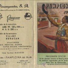 Tauromaquia: PROGRAMA TAURINO CARTEL DE MANO. PAMPLONA 1957 CT-185. Lote 28227451