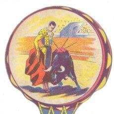Tauromaquia: ANTIGUO ABANICO DE CARTON, TEMA TAUROMAQUIA, TOROS, COMERCIAL ANONIMA SOLER Y MORA, AÑOS 40/50.. Lote 28429067