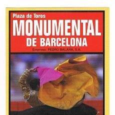 Tauromaquia: PROGRAMA MONUMENTAL DE BARCELONA 2004. Lote 29149357