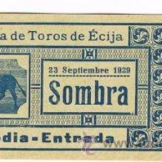 Tauromaquia: ENTRADA PLAZA DE TOROS DE ECIJA. Lote 29153831