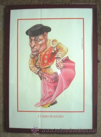 LAMINA DE CARICATURA DE CURRO ROMERO (Coleccionismos - Tauromaquia)