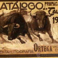 Tauromaquia: PINTURA PORTADA CATALOGO TOROS 1945 CARTON DURO ORIGINAL PINTADO JUAN REUS ORTEGA VALENCIA ORIGINAL. Lote 29259583