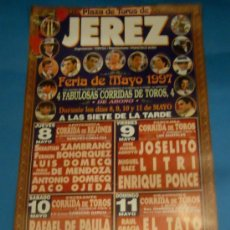 Tauromaquia: CARTEL DE TOROS. PLAZA DE JEREZ DE LA FRA. FERIA DE MAYO 1997.. Lote 29383391
