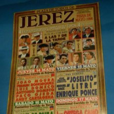 Tauromaquia: CARTEL DE TOROS. PLAZA DE JEREZ DE LA FRA. FERIA DE MAYO 1998. 4 GRANDES CORRIDAS DE TOROS. . Lote 29417791