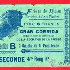 Tauromaquia: ENTRADA TOROS, PLAZA DE NIMES , FRANCIA , 27-5-1906 , ORIGINAL , ET1958. Lote 29635304
