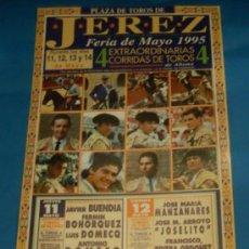 Tauromaquia: CARTEL DE TOROS. PLAZA DE JEREZ DE LA FRA. FERIA DE MAYO 1995.. Lote 29680237