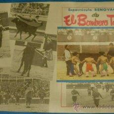Tauromaquia: PROGRAMA DE TOROS. PLAZA DE LINARES. ESPECTACULO COMICO DE EL BOMBERO TORERO. AÑO 1968.. Lote 29736420