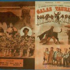 Tauromaquia: PROGRAMA DE TOROS. PLAZA DE JEREZ FRA. ESPECTACULO GALAS TAURINAS. AÑO 1982.. Lote 29736669