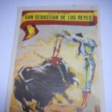 Tauromaquia: TOROS EN SAN SEBASTIAN DE LOS REYES 25 MAYO 1967. DIPTICO 9X13, MULERITO, ANGELETE Y EL AFRICANO.. Lote 29750546