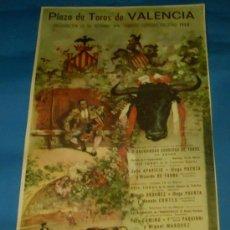 Tauromaquia: CARTEL DE TOROS. PLAZA DE VALENCIA. INAUGURACION DE SU REFORMA. FAMOSAS CORRIDAS FALLERAS. AÑO 1968.. Lote 29762202