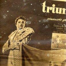 Tauromaquia: TRIUNFO SEMANARIO GRÁFICO Nº 93 - 8 NOVIEMBRE 1947 - VERSOS A MANOLETE. Lote 29849660