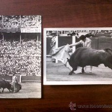 Tauromaquia: TORERO BERNADO-LOTE DE 2 FOTOGRAFIAS 12X18-FOTOS MATEO -1959. Lote 30015289