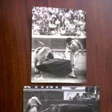 Tauromaquia: TORERO BERNADO-LOTE DE 2 FOTOGRAFIAS 13X18-FOTOGRAFO GONSANHI. Lote 30015379