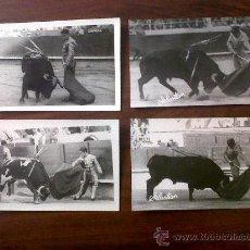 Tauromaquia: TORERO BERNADO-LOTE DE 4 FOTOGRAFIAS 9X14-FOTOGRAFO SEBASTIAN(HIJO) 1959. Lote 30018732
