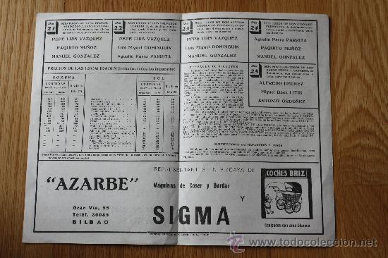 Tauromaquia: TOROS EN BILBAO, AGOSTO 1949. DÍPTICO 21.3 X 13.8. - Foto 2 - 30315851