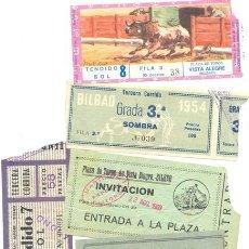 Tauromaquia: 5 ENTRADAS DE TOROS .. PLAZA DE TOROS VISTA ALEGRE – BILBAO 1954-60-71. Lote 30555484